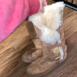 Tan Ugg Boots With Buttons